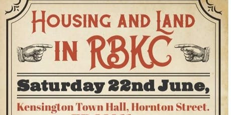 Housing and Land in RBKC tickets