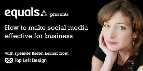 Social Media Strategies - how to make social media effective for business tickets