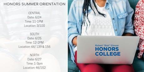 Honors College Summer Orientations entradas