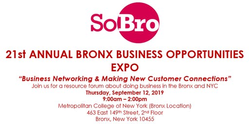 SOBRO PRESENTS 21ST ANNUAL BRONX BUSINESS OPPORTUNITIES EXPO