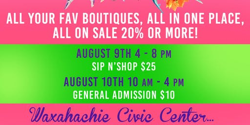 August 2019 LAST CALL, The Ultimate Boutique Sale