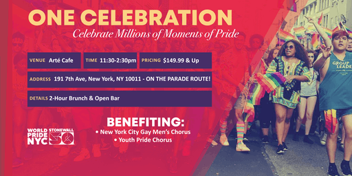World LGBT Pride Parade NYC Benefit Brunch & Open bar!