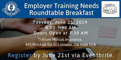 Employer Training Needs Roundtable Breakfast