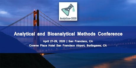Analytical and Bioanalytical Methods Conference (ANALYTICON-2020) tickets