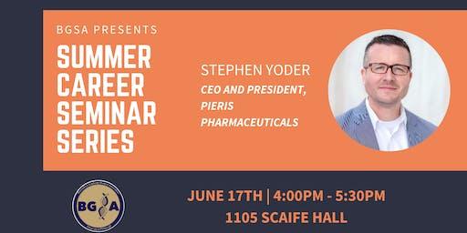 BGSA Summer Career Seminar with Stephen Yoder