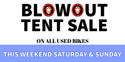 Used Bike Blowout Tent Event