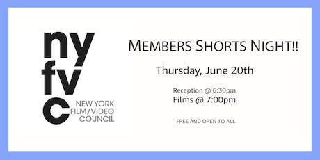 Members Shorts Night! tickets