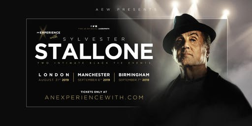 An Experience With Sylvester Stallone 2019 (Manchester) *EXTRA DATE ADDED*