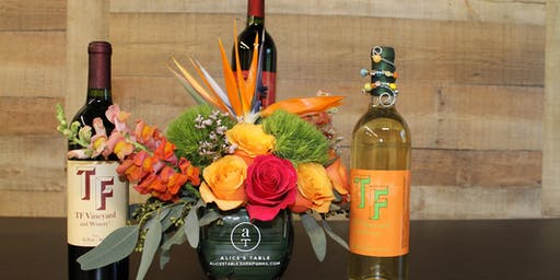 Tropical Blooms & TF Vineyard Wine