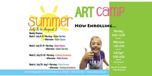 Just for Fun Art Summer Camp - Afternoons