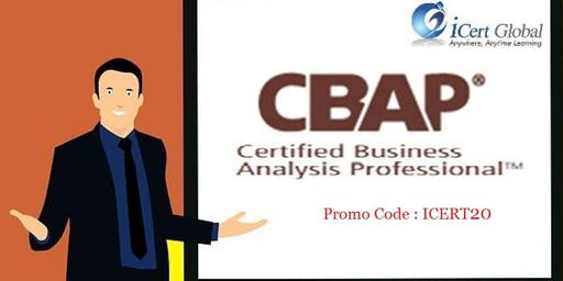 CBAP Certification Classroom Training in Anderson, CA