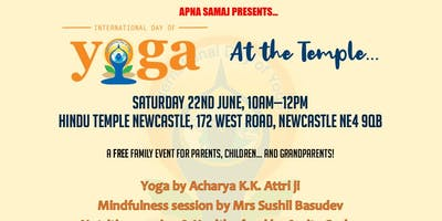 International Yoga Day at The Temple