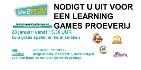 Proeverij met 4 live business games - 28 januari 2020 tickets