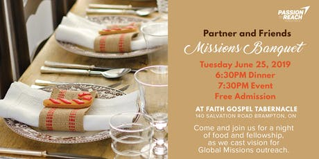 Partners & Friends Missions Banquet tickets