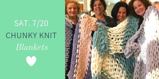 Chunky Knit Blankets DIY @ Nest on Main- Sat., 7/20