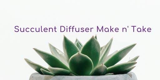 Succulent Diffuser Make n Take