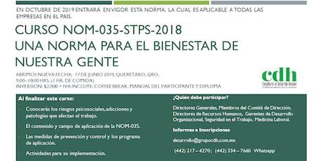 NOM-035-STPS-2018: Una norma para el bienestar de nuestra gente entradas