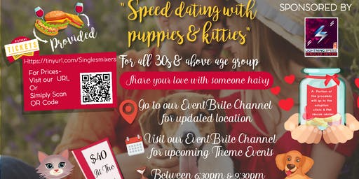 """Pet lovers Singles Get2gether"" for all 30s and over: Bring your own pet or adopt one"