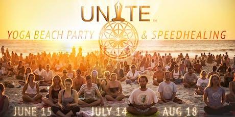 UNITE YOGA BEACH PARTY & SPEEDHEALING tickets