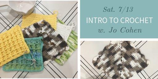 Intro to Crochet @ Nest on Main w. Jo Cohen