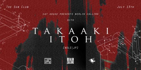 Berlin Calling with Takaaki Itoh (3 hours +) tickets