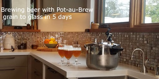 Making beer - grain to glass in 5 days - with our ecofriendly Pot-au-Brew