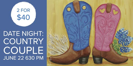 Date Night: Country Couple Canvas Painting