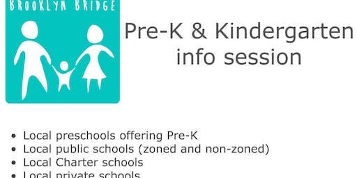 Intro to Pre-K & Kindergarten in Brooklyn Heights, DUMBO, Downtown Bklyn, BoCoCa & Fort Greene