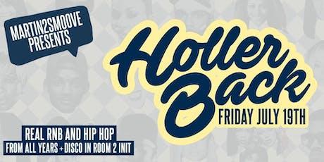 Holler Back - Hiphop & RnB Fridays at OMEARA tickets