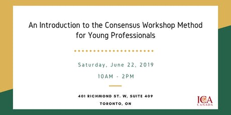 An Introduction to the Consensus Workshop Method for Young Professionals tickets