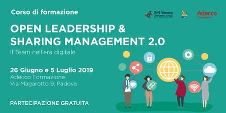 Open leadership & Sharing Management 2.0 biglietti