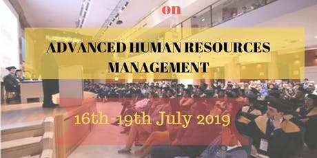 ADVANCED HUMAN RESOURCE MANAGEMENT tickets