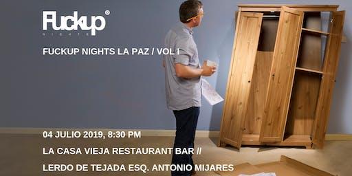 Fuckup Nights La Paz Vol. II