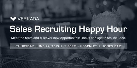 Verkada Sales Recruiting Happy Hour tickets