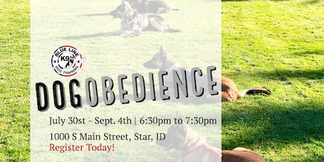 July Basic Dog Obedience Class tickets