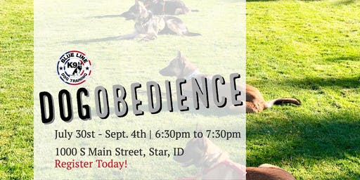 July Basic Dog Obedience Class