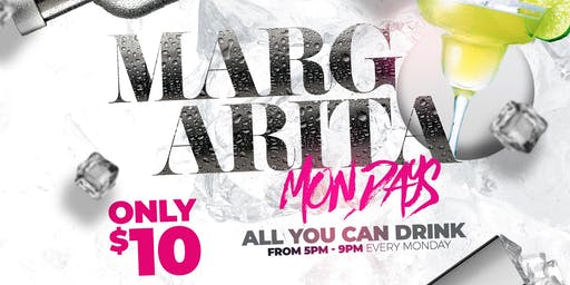 Margarita Mondays: $10 All You Can Drink Margaritas x 50 Cent Wings