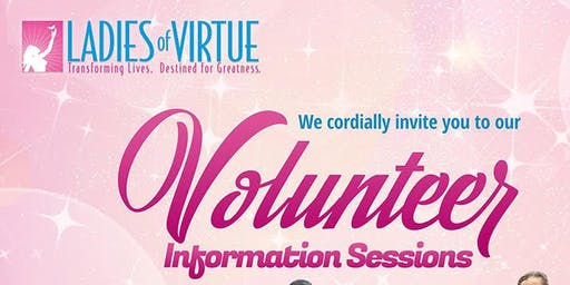 2019 LOV Volunteer Info Sessions