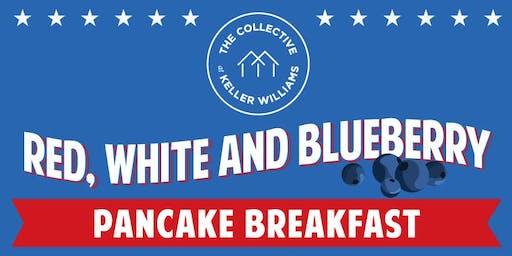 Red, White, & Blueberry Pancake Breakfast