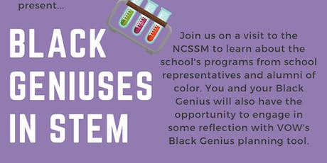 Black Geniuses in STEM tickets