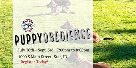 July Puppy Obedience Class tickets