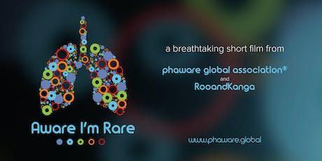 """phaware® LIVE: """"Aware I'm Rare"""" Film Premiere & PH Research App Launch tickets"""