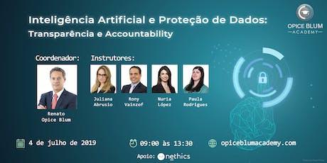 Inteligência Artificial e Proteção de Dados: transparência e accountability ingressos
