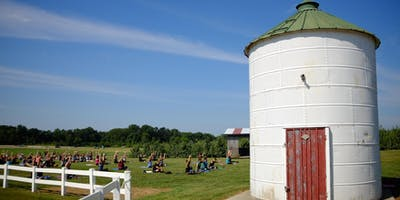 Yoga + Peaches at Eckert's Family Farms