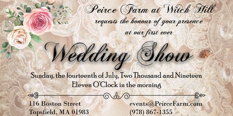 Peirce Farm at Witch Hill Wedding Show tickets