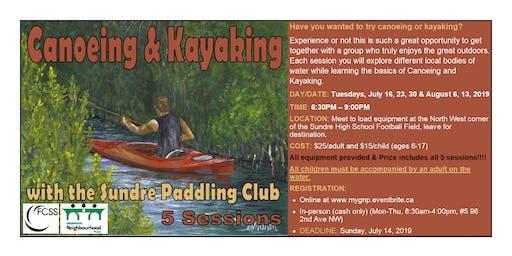 Canoeing & Kayaking with the Sundre Paddling Club