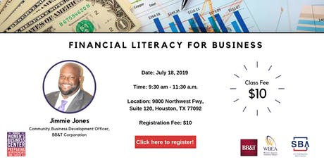 Financial Literacy for Business tickets