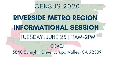 Census 2020-Riverside Metro Region Informational Session tickets