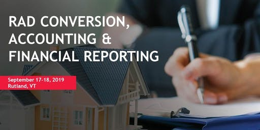 RAD CONVERSION, ACCOUNTING AND FINANCIAL REPORTING