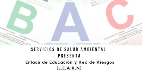 Clase Enlace de Educación y Red de Riesgos (LEARN) tickets